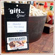 Rocklands gift cards make great gifts!