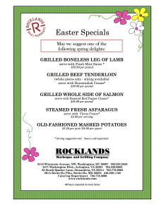 EASTER SPECIALS 2016