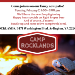 Camp Rocklands on Tuesday