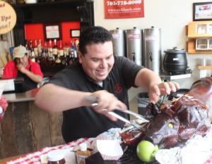 Pig pull at Rocklands
