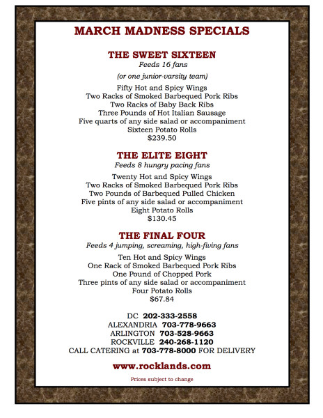 MARCH MADNESS MENU 2015 NEW