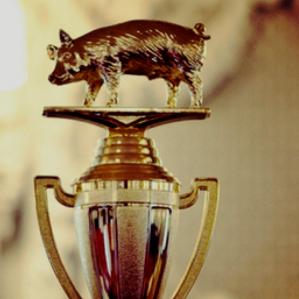 Pig on a pedestal