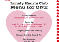 Valentine's Day = Lonely Hearts Menu