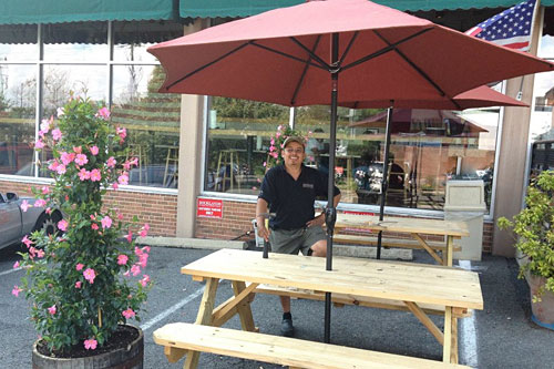 Outdoor seating at Rocklands Alexandria