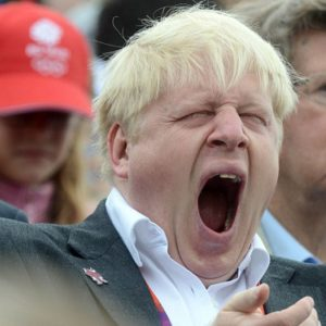 Boris Johnson...not awake for American football